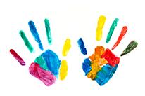 סימני צבע של ידיים