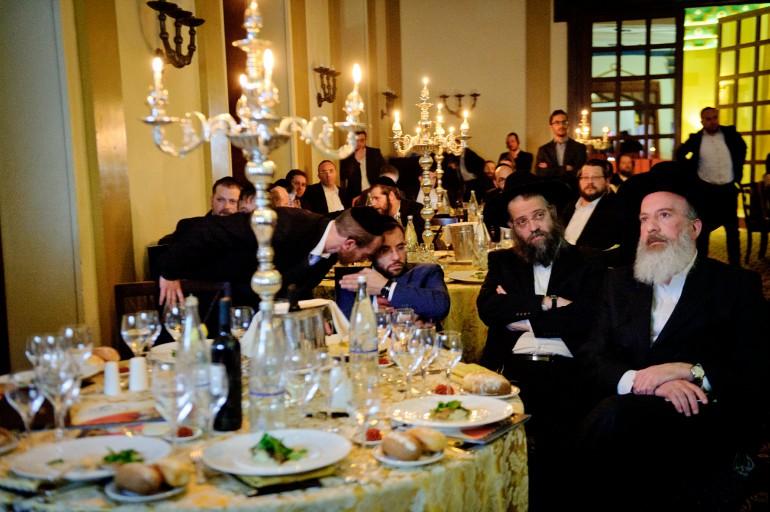 חלק מהקהל באירוע ההתרמה